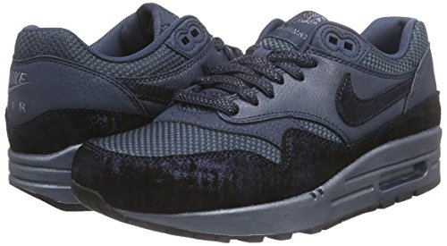 huge discount 3d067 e7843 Nike WMNS Air Max 1 Premium Women Lifestyle Casual Sneakers New Squadron  Blue squadron blue metallic armory navy 6.5 B(M) US  Amazon.in  Shoes    Handbags