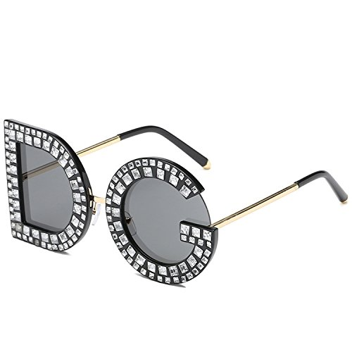 Sunglasses Round Luxury Women Square Brand Sunglasses Crystal
