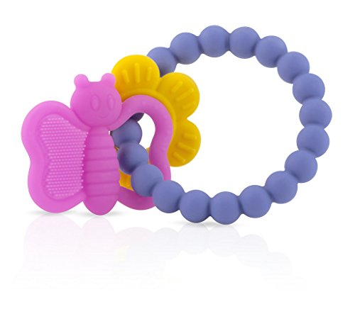 Nuby Charms Butterfly Silicone Teether