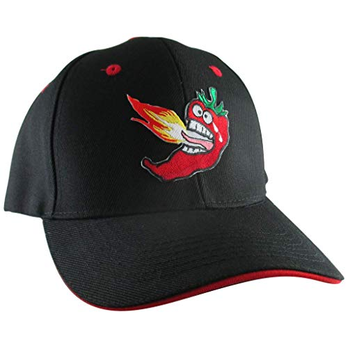 AffinityAddOns Hot Chili Pepper Hat, Men's Black Baseball Cap, Embroidered Patch]()