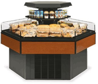 Federal Refrigerated Merchandiser (Federal Industries HXISS60SC Specialty Display Hexagon Island Self-Serve Refrigerated Merchandiser)