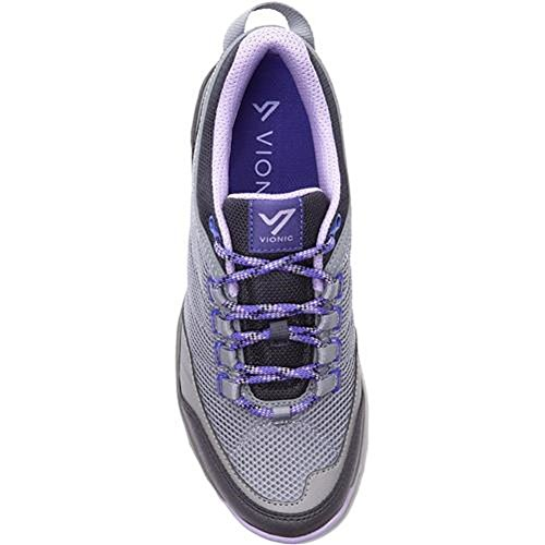 Image of Vionic Womens Mckinley Trail Walker Grey/Lavender Size 7