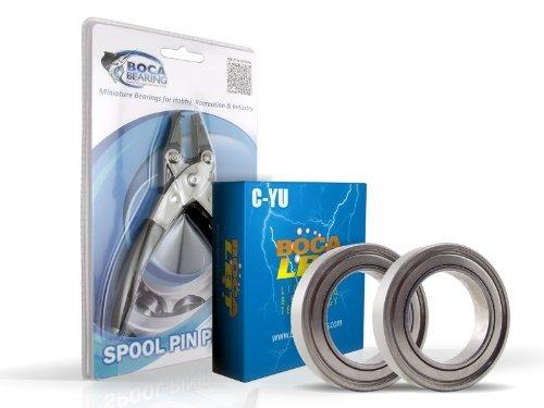 Abu Garcia Revo Top stx-hs Baitcast-YZ Bearing Upgrade Kit & Spule Pin Zange Combo von Boca Bearing Company