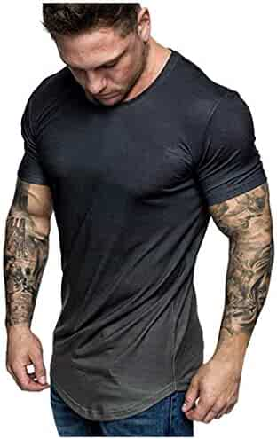 KYLEON Mens Slim Fit Short Sleeve Holiday Shirt Party 3D Offensive Boobs Printed Tee Blouse Top Summer T Shirts for Men