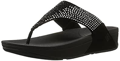 FitFlop Womens Flare Flare Black Size: 5