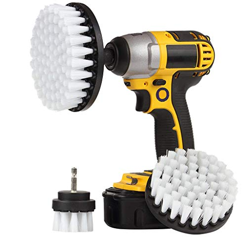(Drill Brush, LtrottedJ 3Pcs Grout Power Scrubber Cleaning Brush Tub Cleaner Combo Tool Kit)