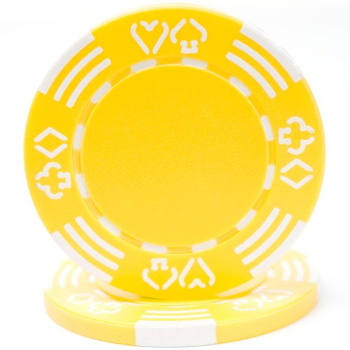 Trademark Poker Royal Suited Casino 100 Poker Chips, 11.5gm, Yellow