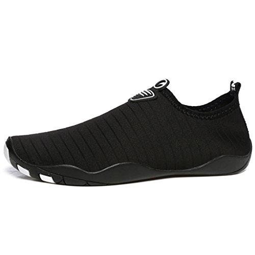 BELECOO Wasser Schuhe Unisex - Erwachsene Quick Drying Aqua Schuhe Outdoor Waterproof Schwimmschuhe Schwarz