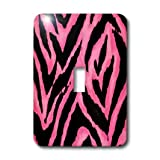 lsp_19696_1 Lee Hiller Designs RAB Rockabilly - Pink and Black Zebra Print - Light Switch Covers - single toggle switch