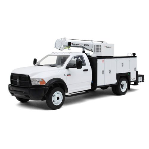 Dodge Ram 5500 with Maintainer Service Body White 1/34 by First Gear 10-4060 (5500 Swivel)