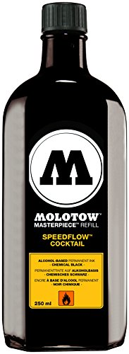 (Molotow Speedflow Cocktail Permanent Ink Refill, Refill for Molotow 767.000 and 367.000 (Sold Separately), 250ml Bottle, Copper Black (691.767))