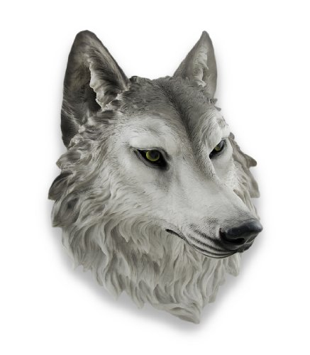 (Things2Die4 `Remus` Gray Wolf Head Mount Wall Statue Bust 16 in.)