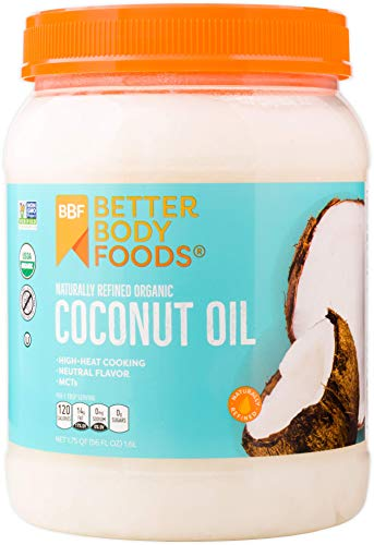 Oil Refined Coconut (BetterBody Foods Organic Naturally Refined Coconut Oil with Neutral Flavor and Aroma, 56 Ounce)