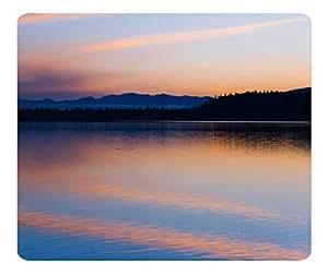 Decorative Mouse Pad Art Print Landscape and Plants Peaceful Lake At Dusk 2