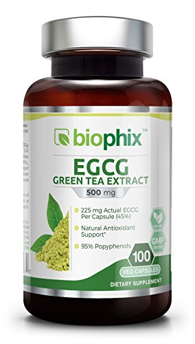 225 Mg 250 Capsules - Green Tea Extract EGCG 500 mg 100 Vcaps - Weight Loss | Free Radical Scavenger | Boost Metabolism | Heart Health | Natural Caffeine | Gentle Antioxidant | Energy