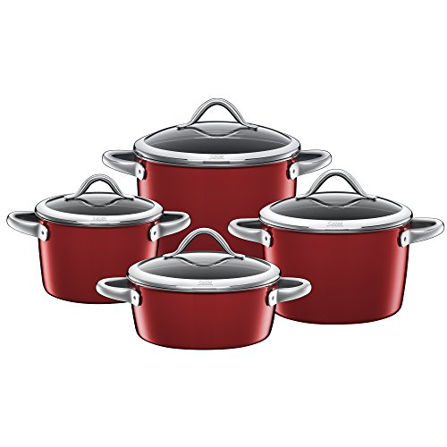 Silit Silargan Pan-Set Vitaliano Rosso, Cookware-Set, 4 pieces, also suitable for induction, 15186811
