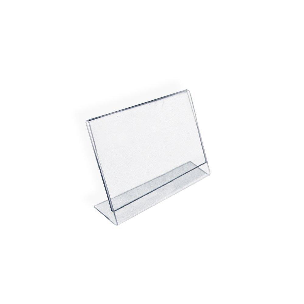 10pack of Acrylic L Frame Slanted Sign Holders (10cmx15cm) awo
