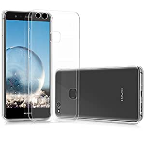 kwmobile Crystal Case for Huawei P10 Lite - Soft Flexible TPU Silicone Back Door Protective Cover - Transparent