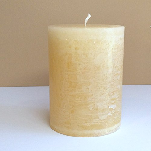 Ivory Candle - Unscented Rustic Extra Big 4