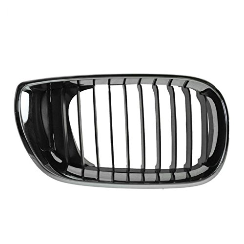 Chrome & Black Upper Grille Grill Passenger RH Right for 02-05 3 Series 4 Door Br Chrome Grille Grill