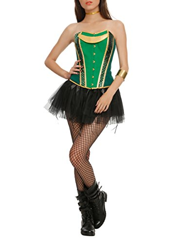 Hot Topic Green and Gold Corset (Hot Topic Corset)