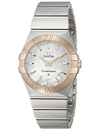 Omega 12320276005001 Women's Wrist Watches, Mother-Of-Pearl Dial, Two Tone Band