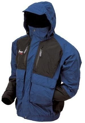 Frogg Toggs Toadz Firebelly Jacket, Dust Blue/Black, Size Large