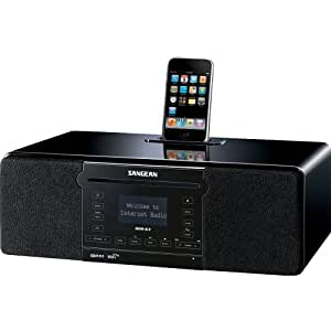 Sangean DDR-63 All-in-One Table Top with WiFi Internet, FM-RDS/Aux In/ CD/USB/iPod Cradle in Acoustically Designed Wooden Cabinet