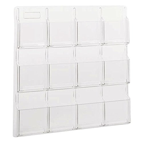 (TableTop King 5610CL Reveal Clear 12-Compartment Wall-Mount Display Rack - 30