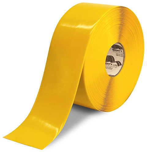 Mighty Line Floor Tape 4 inch Yellow 100' Roll