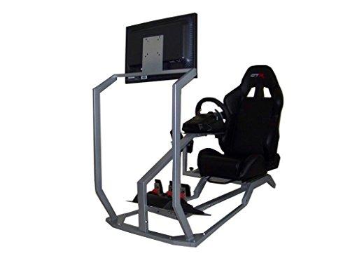 GTR Simulador gt-s-s104lbk cabina con asiento Real Racing, simulador de conducción con Gear Shifter Mount y único Monitor...