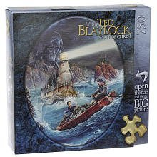 Featuring the art of Ted Blaylock - Spirit of Christ Series - I am the Light - 750 Piece Puzzle - Lighthouse Scene with Jesus Reaching Out to Help Small Fishing Boat In Trouble