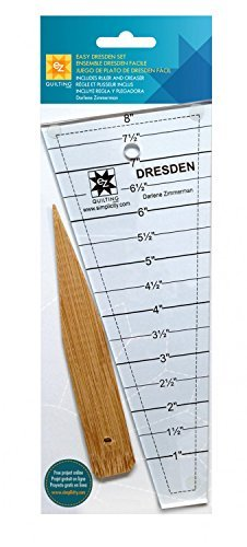 EZ Quilting 882700 Easy Dresden Quilt Tool (Quilting Template Set)