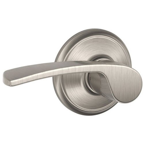 Schlage F10vmer619 Merano Hall And Closet Lever Satin Nickel