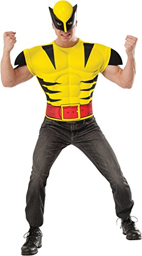 [Rubie's Costume Men's Marvel Universe Adult Wolverine Muscle Chest T-Shirt/Mask, Multi, Standard] (Marvel Heroes Costumes For Adults)