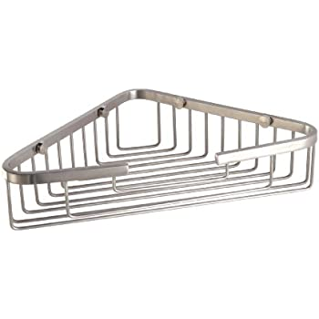 HANEBAH Stainless Steel Bathroom Corner Shower Caddy Rustproof Basket , Brushed  Nickel