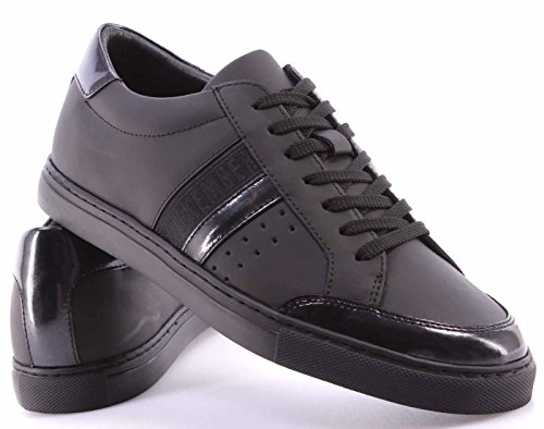Zapatos Hombres Sneakers BIKKEMBERGS BKE108239 Soccer Rubber Leather Black Negro