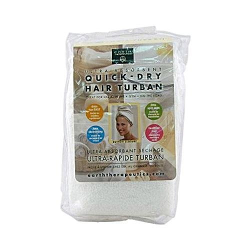 2 Packs of Earth Therapeutics Quick Dry Hair Turban Ultra-absorbent - 1 Cloth by Earth Therapeutics (Image #1)