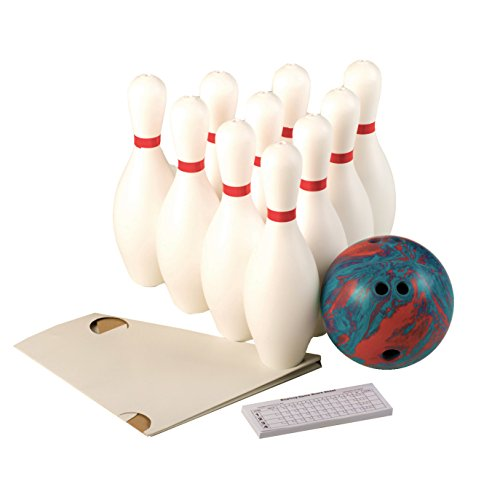 cosom-white-weighted-10-bowling-pin-set-for-youth-party-game-education-regulation-height-15-with-acc