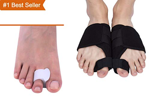Bunion Corrector and Bunion Relief Kit – Orthopedic Foot Corrector – Premium Recovery & Pain Reliever Brace Pads for Hammertoe Care, Hallux Valgus and Big Toe Joint – 100% Medical-Grade Gel