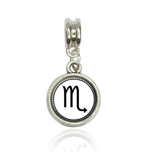 Zodiac Sign Scorpio Euro European Italian Style Bracelet Bead (Italian Zodiac Sign Bracelet)