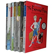 Enid Blyton famous five collection set.(70th Anniversary edition series set) (Five on Treasure Island, Five Go Adventuring Again, Five Run Away Together, Five Go to Smuggler's Top, Five Go Off in A Caravan) (FAMOUS FIVE 70th Anniversary edition series set))