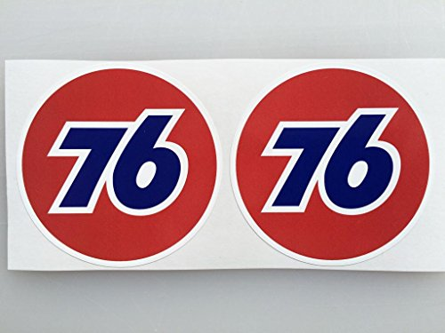 2 Union 76 Die Cut Decals by SBD DECALS
