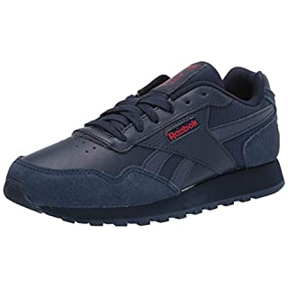 Reebok mens Reebok Classic Harman Run Sneaker, Collegiate Navy/Collegiate Navy/Excellent Red, 4 US