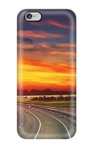 [HxdIk1273XaATa]premium Phone Case For Iphone 6 Plus/ Highway Sunset Tpu Case Cover