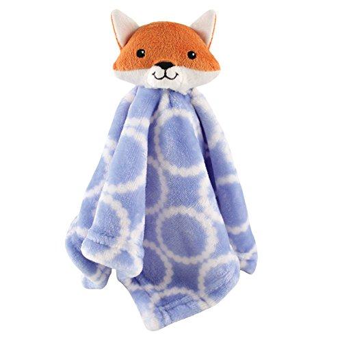 Hudson Baby Unisex Baby Security Blanket, Blue Fox, One Size (Fox Blankets)
