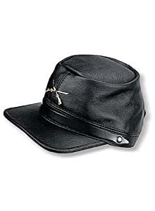 Carroll Leather 140 Black Civil War Cap