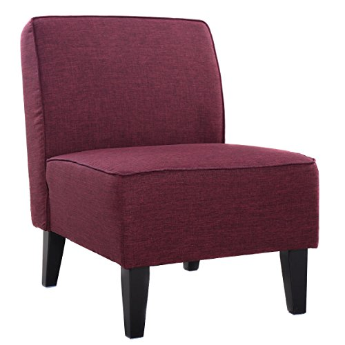 Giantex Deco Solids Accent Chair Armless Living Room Bedroom Office Contemporary Purple