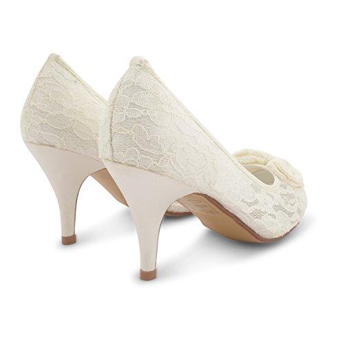 Footwear Sensation - Zapatos de vestir para mujer Plateado plata Plateado - marfil