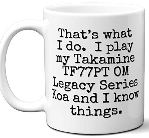(Guitar Gifts Mug. Takamine TF77PT OM Legacy Series Koa Guitar Players Lover Accessories Music Teacher Lover Him Her Funny Dad Men Women Card Pick Musician Acoustic)